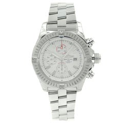 Breitling Super Avenger White Dial Steel Automatic Mens Watch A1337011/A660-135A