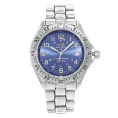 Breitling SuperOcean GMT Blue Arabic Dial Steel Automatic Men's Watch A17040
