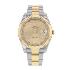 Rolex Datejust II 116333 CHIO Steel 18 Karat Yellow Gold Automatic Men's Watch