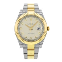 Rolex Datejust II 116333 IDO 18 Karat Yellow Gold Steel Automatic Men's Watch