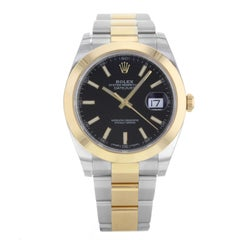 Rolex Datejust 41 126303 Bkio Steel 18 Karat Yellow Gold Automatic Men's Watch
