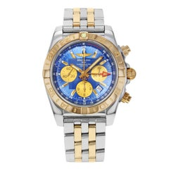 Breitling Chronomat 44 GMT Blue CB042012/C858-375C Steel 18 Karat Gold Watch