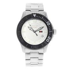 Gucci G-Timeless Sport Steel Plastic Swiss Rotational Quartz Watch YA126250