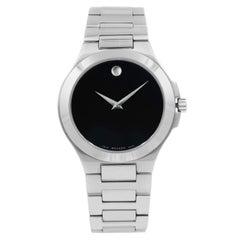 Movado Corporate Exclusive Black Dial Stainless Steel Quartz Men's Watch 0606163