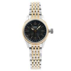 Oris Big Crown Pointer Date Automatic Black Dial Steel Ladys Watch 594-7680-4334