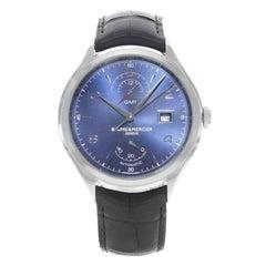 Baume et Mercier Clifton Blue Sunray Dial GMT Steel Automatic Men's Watch 10316