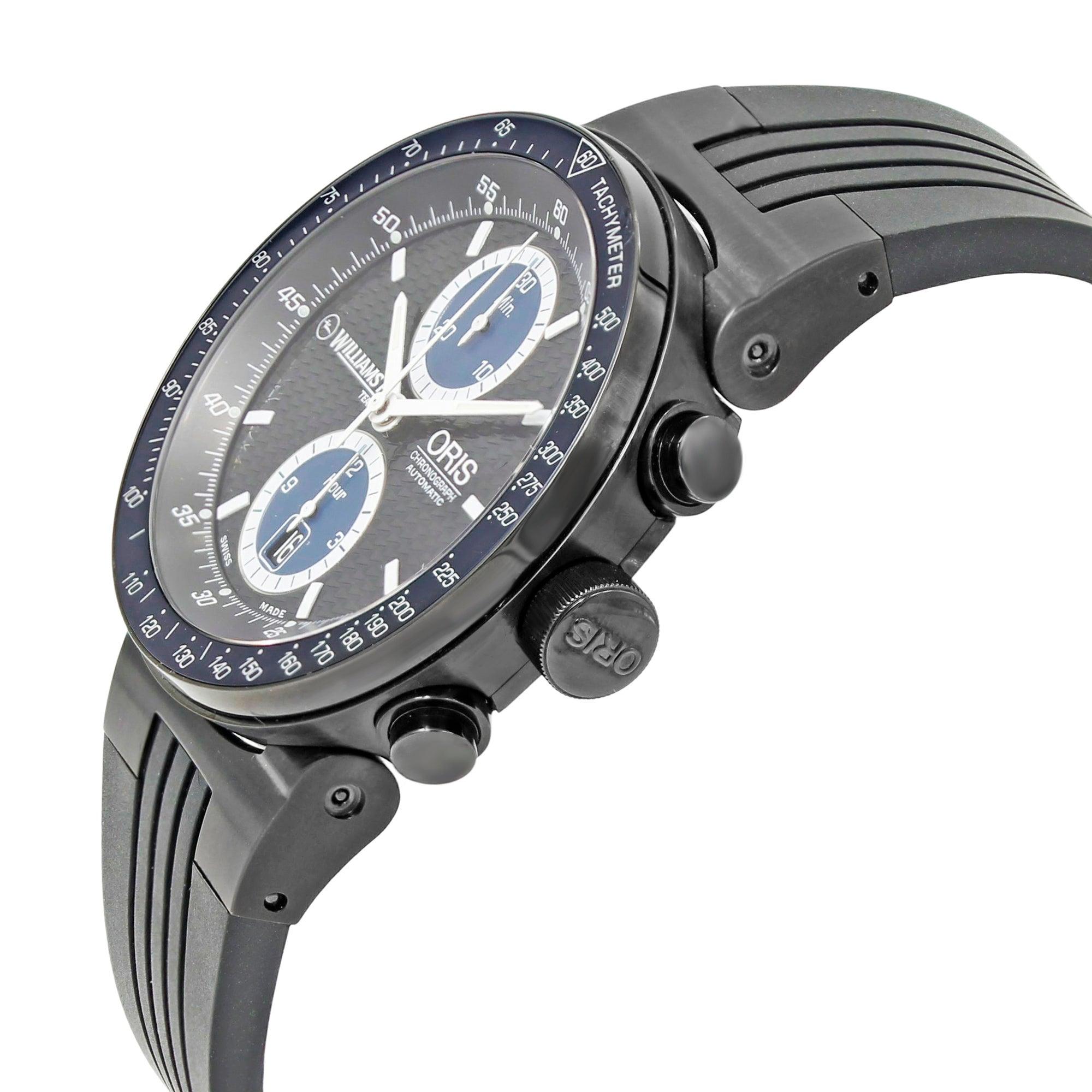 Oris Williams F1 Team Black PVD Steel Automatic Black Dial Watch ...