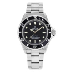 Rolex Submariner 14060M No Date Holes 4-Liner 2007 Engraved Automatic Mens Watch