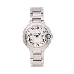 Cartier Ballon Bleu Stainless Steel W69010Z4 Ladies Wristwatch