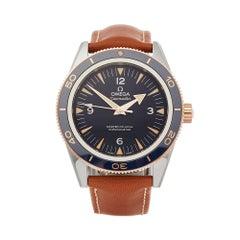 Omega Seamaster 300 Stainless Steel & 18K Rose Gold 23362412103001 Wristwatch