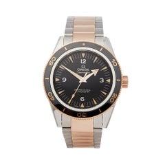 Omega Seamaster 300 Stainless Steel & 18k Rose Gold 23320412101001 Wristwatch