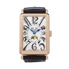 Franck Muller Long Island 18k Rose Gold 1200 MC L Wristwatch