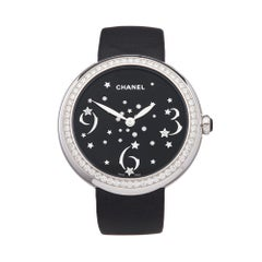 Chanel Mademoiselle Prive 18k White Gold H3097 Wristwatch