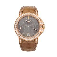 Harry Winston Biretrograde 18K Rose Gold OCEAB136RR023 Wristwatch