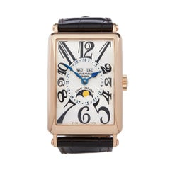 Franck Muller Long Island 18k Rose Gold 1200 MC L Wristwatch