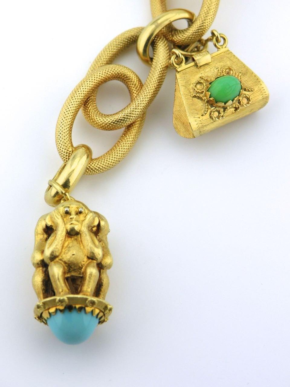 1960s italian gold charm bracelet at 1stdibs