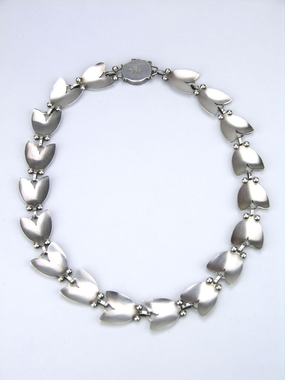 georg jensen silver tulip necklace at 1stdibs