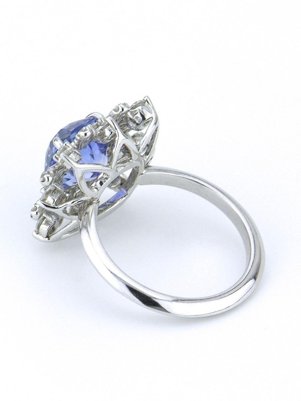 australian sapphire platinum cluster ring for sale