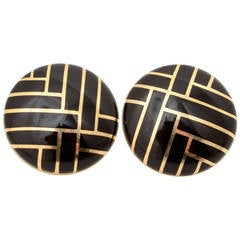 Asch Grossbardt Black Onyx Earrings