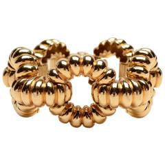 Tiffany & Co. Huge Ribbed Gold Links Bracelet