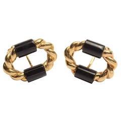Onyx Gold Cufflinks