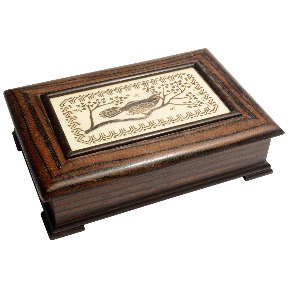 Emilia Castillo Silver and Wood Box
