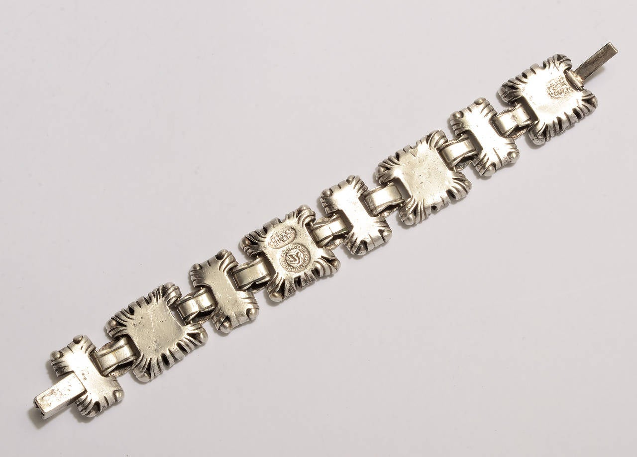 William Spratling Ornamented Squares Bracelet In Good Condition For Sale In Darnestown, MD