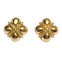 Gold Crisscross Earrings
