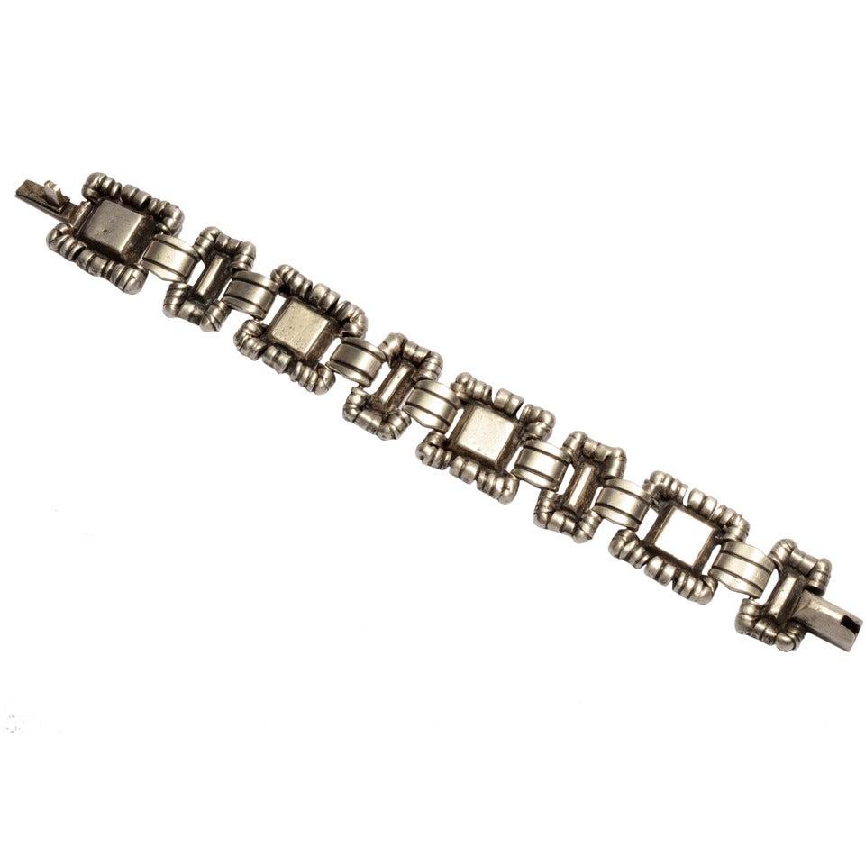 William Spratling Ornamented Squares Bracelet