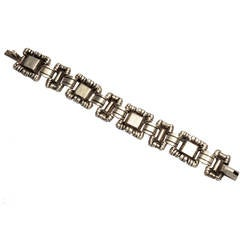 William Spratling Ornamented Squares Bracelet