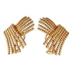 Schlumberger for Tiffany V Spray Earrings