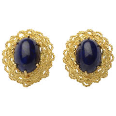 Lapis Lazuli Gold Earrings