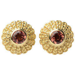 Vahe Naltchayan Tourmaline Gold Earrings