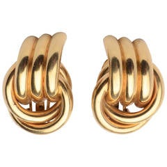 Retro Gold Loop Earrings