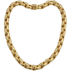 Paloma Picasso for Tiffany Gold Links Necklace