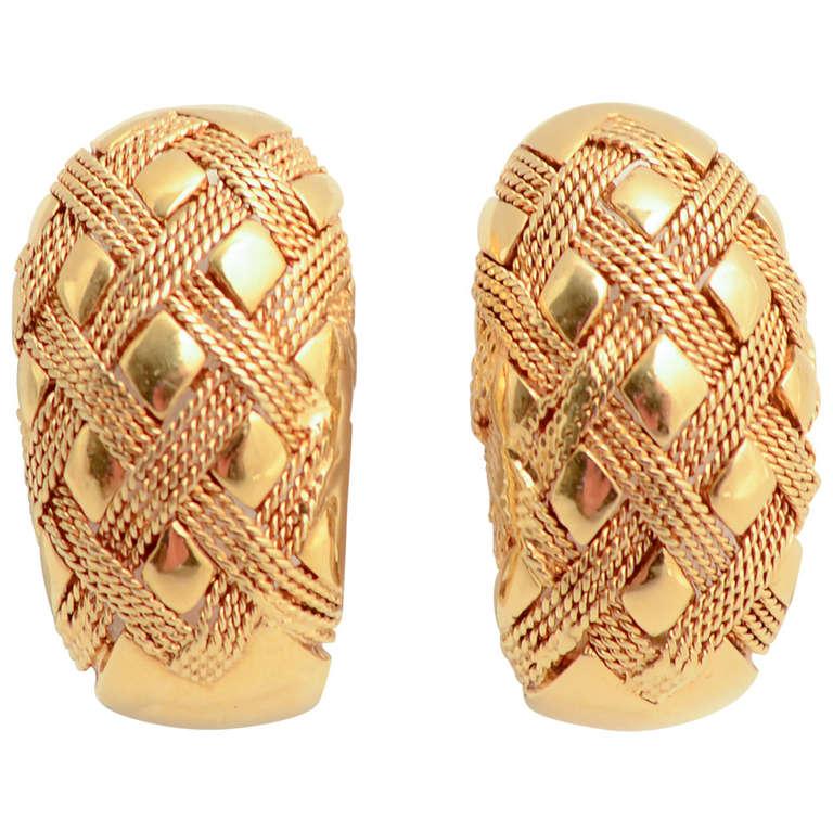 Gold Half Hoop Earrings For