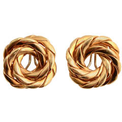 Twisted Knot Gold Earrings