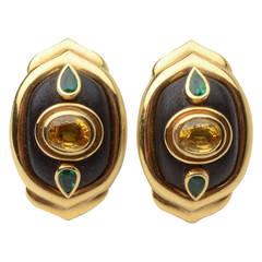Boris le Beau Gold Earrings