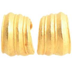 Tiffany Textured Gold Hoop Earrings