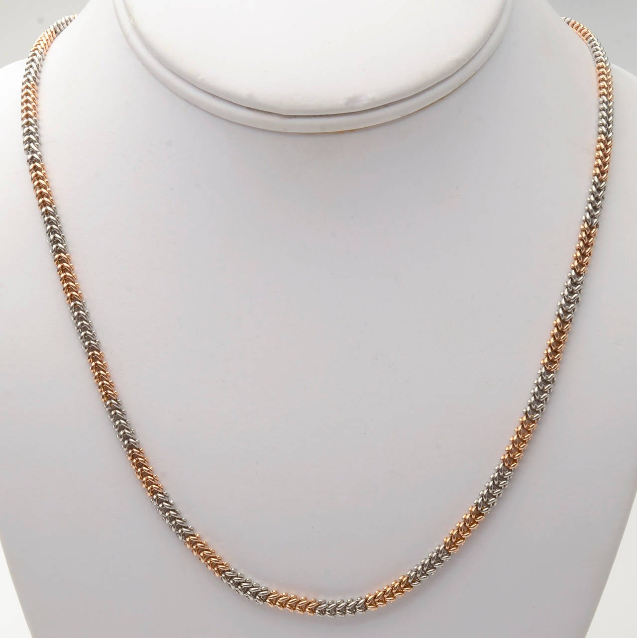 gold platinum chain necklace at 1stdibs