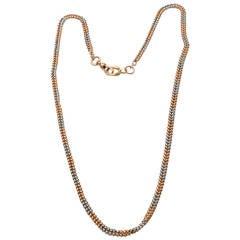 Gold Platinum Watch Chain Necklace