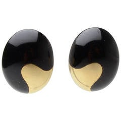 Tiffany & Co. Yin Yang Black Jade Earrings