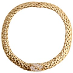 Van Cleef & Arpels Diamond Gold Choker Necklace