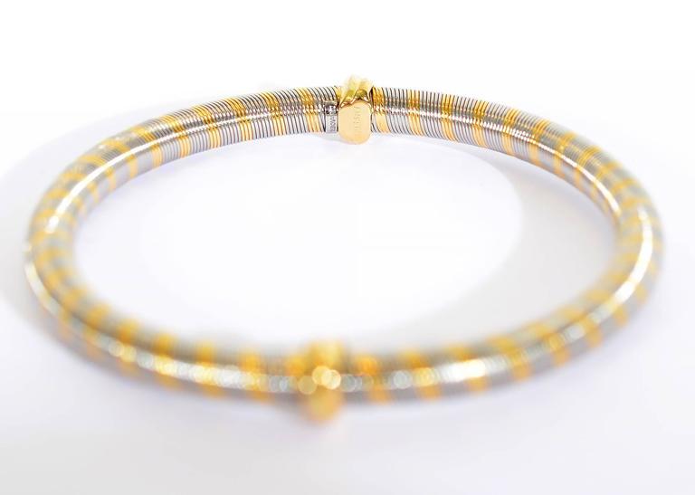 Women's Cartier Steel Gold Bangle Bracelet For Sale