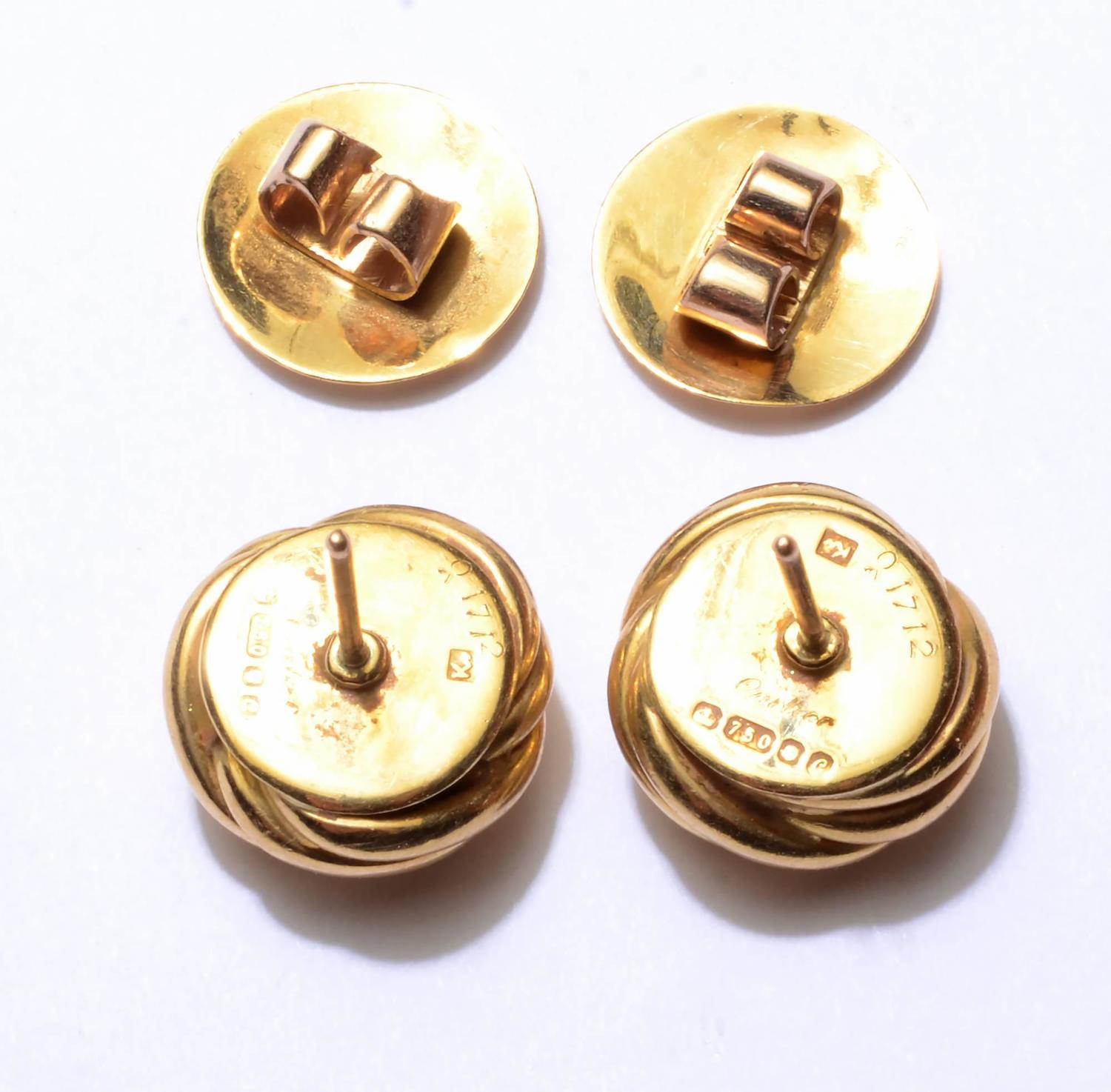 cartier love knot gold earrings at 1stdibs