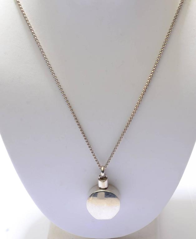 Cartier sterling silver perfume bottle pendant necklace at 1stdibs cartier sterling silver perfume bottle pendant necklace in excellent condition for sale in darnestown md aloadofball Image collections