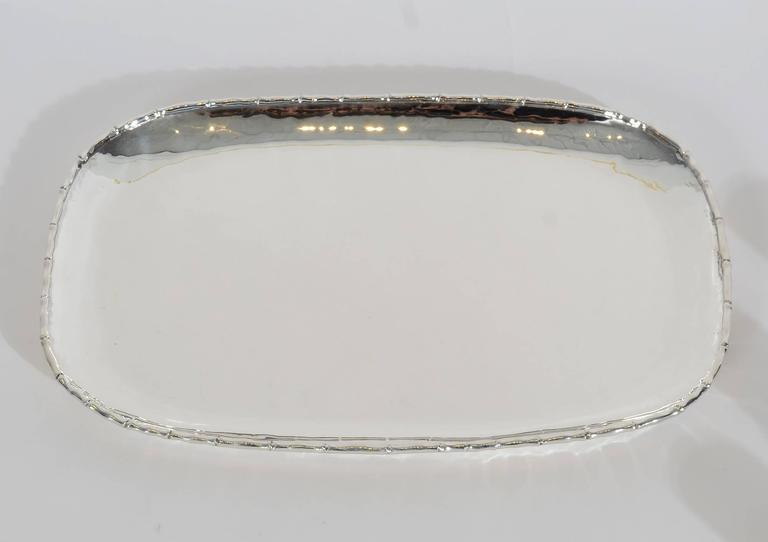 Modernist Antonio Pineda Silver Tray and Cups For Sale