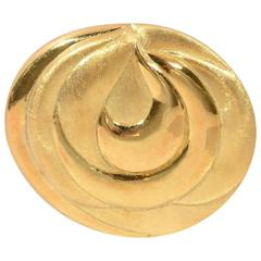 Burle Marx Modernist Gold Brooch