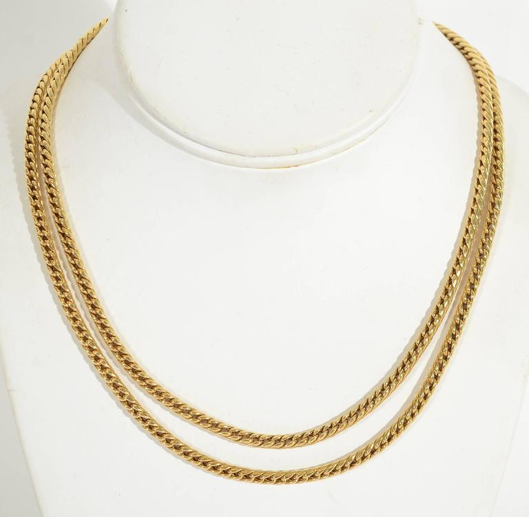 Van Cleef & Arpels Long Gold Chain Necklace 3