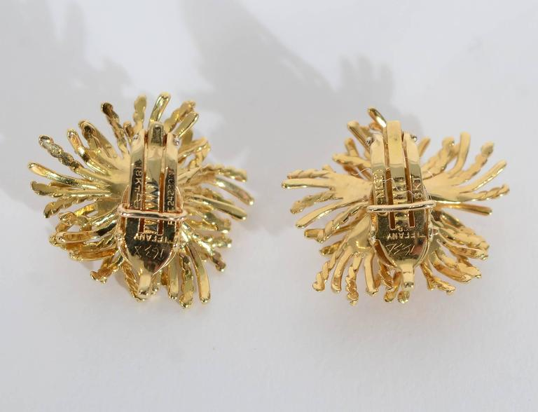 Tiffany & Co. Anemone Gold Earclips 2
